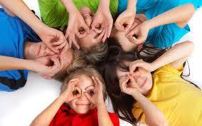 kids hands round eyes