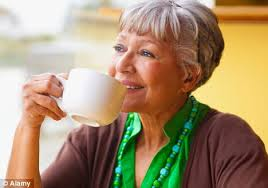 Nan enjoying coffee